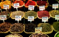 Selection of spices. The Spice Bazaar, Istanbul, T