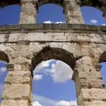 """The Arched wall at the Roman Amphitheatre, Pula, C"" by OJPHOTOS"