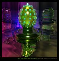 Glass Cactus Trinket with Funhouse Mirrors
