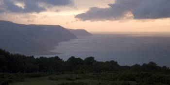 Exmoor coast at sunset