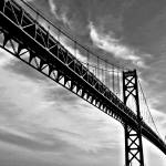 """Mt. Hope Bridge In Bristol Rhode Island"" by bavosiphotoart"