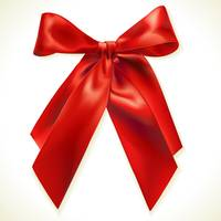Crossed Red Ribbon
