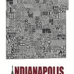 """Indianapolis Neighborhoods - Poster 4"" by RossPhotoWorks"