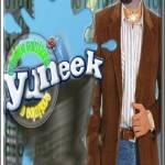 """YUNEEK LOGO LRG WITH FRAME TXT"" by Yuneek"