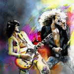 """Jimmy Page and Robert Plant"" by mikifonvielle"