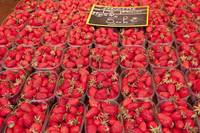 Strawberries at Farmers' Market, France