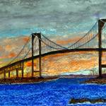 """Newport Bridge, Rhode Island"" by bayviewart"