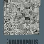 """Indianapolis Neighborhoods - Poster 5"" by RossPhotoWorks"