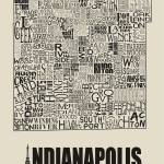 """Indianapolis Neighborhoods - Poster 6"" by RossPhotoWorks"