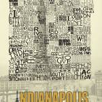 """Indianapolis Neighborhoods - Poster 3"" by RossPhotoWorks"