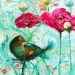"""Ranuncula Bird in Blue"" by ArtSamadhi"