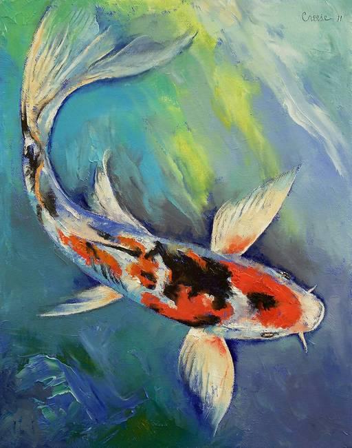 Stunning koi fish artwork for sale on fine art prints for Koi artwork