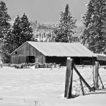 """Barn on Dufort Road in Winter"" by SamSherman"