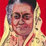 """Indira Gandhi"" by AnnHuey"