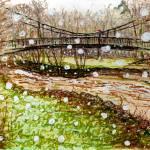 """Snow over River Hafren"" by Linandara"