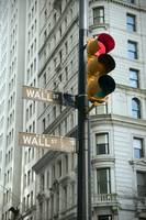 Stop signal on Wall Street