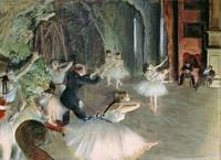 The Rehersal of the Ballet on Stage, by Degas