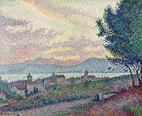 St. Tropez, Pinewood, 1896, by Paul Signac