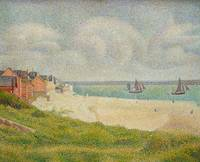 Le Crotoy Looking Upstream, 1889, Georges Seurat