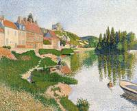 The River Bank, Petit-Andely, 1886, by Paul Signac