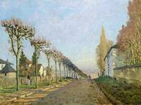 Rue de la Machine, Louveciennes, 1873, by Sisley