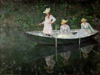 The Boat at Giverny, c1887, by Claude Monet