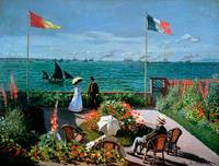Terrace at Sainte-Adresse, 1867, by Claude Monet