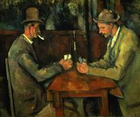 The Card Players, 1890-95, by Paul Cezanne