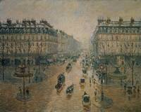 Avenue de L'Opera, Paris, 1898, by Camille Pisarro