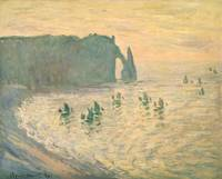 The Cliffs at Etretat, 1886, by Claude Monet