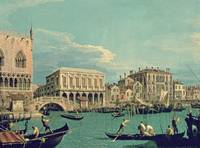 Bridge of Sighs, Venice, by Canaletto, 1740