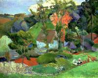 Landscape at Pont Aven, 1888, by Paul Gaugin