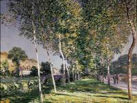 The Walk, 1890, by Alfred Sisley