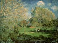 Garden of Hoschede Family, 1881, by Alfred Sisley