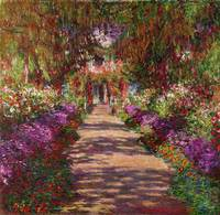 Pathway in Monet's Garden at Giverny, 1902, Monet