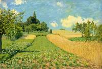 The Cornfield (near Argenteuil), by Alfred Sisley