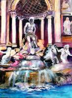 Roman Holiday Trevi Fountain Italy by Ginette
