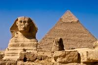 Great Sphinx and Pyramid of Khafre - Cairo, Egypt