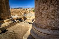 Overlooking the Forum from Temple of Zeus - Jerash