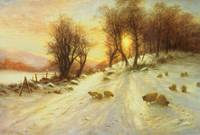 Sheep in Winter Snow, by Farquharson
