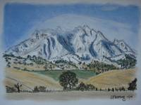 Mount Diablo with snow