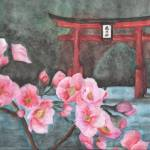 """""A Vision of Dhyana"" Close up of cherry blossoms"" by iLovePencils"