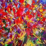 """Red Flowers - Abstract bouquet"" by zampedroni"