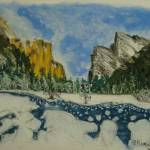 """Yosemite Valley in Winter"" by SheilaArt"