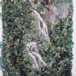 """Waterfall in Japan"" by SheilaArt"