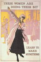 War Women Munitions Vintage Poster