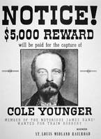 Vintage Reward Poster -- Thomas Cole Younger