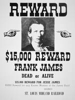 Wanted: Frank James -- Vintage Reward Poster