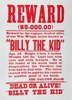 Wanted: Billy the Kid -- Vintage Reward Poster