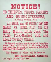 Neck-Tie Party Warning, Vintage Vigilante Notice